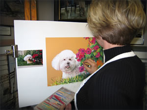 Rhonda at easel